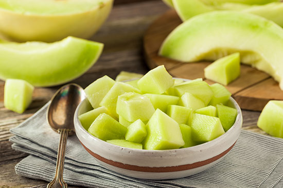 bowl of honeydew melon