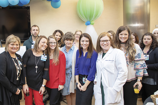 The cancer care team in Lexington celebrated the affiliation announcement between CHI Saint Joseph Health – Cancer Care Centers and Cleveland Clinic Cancer Care in October.